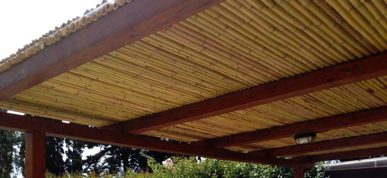 Copertura ombreggiante impermeabile bambù