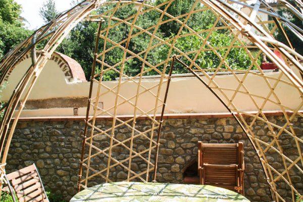 bamboo bambuseto giardino casa corsi gazebo dettaglio laterale